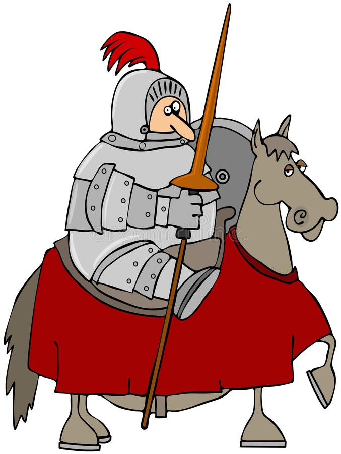 De Ridder van Jousting stock illustratie
