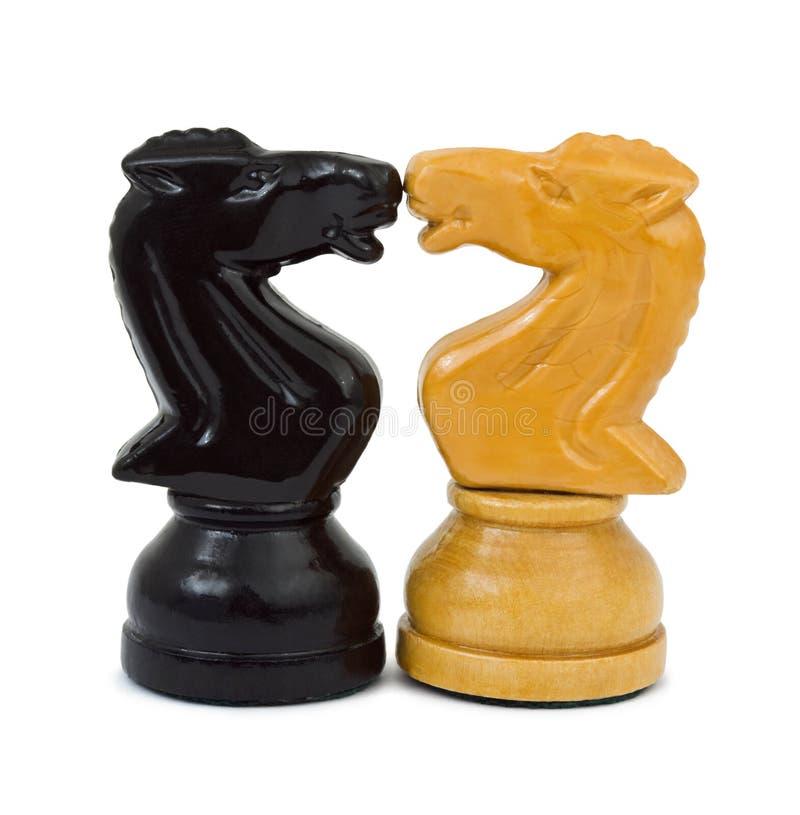 De ridders van het schaak stock afbeelding