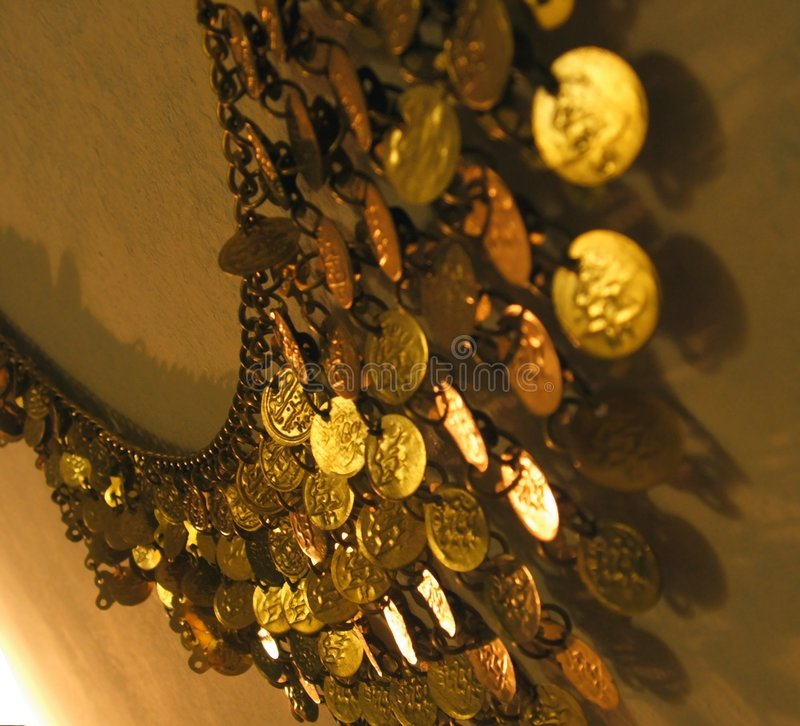 De riem van het muntstuk stock afbeeldingen
