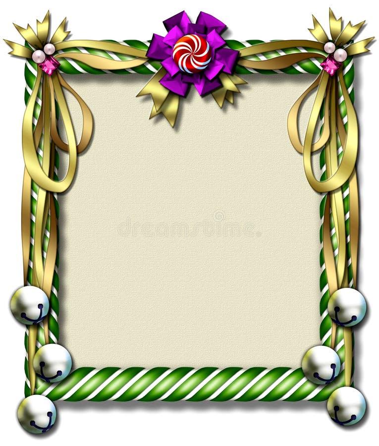 De riet-klok van het suikergoed frame royalty-vrije illustratie