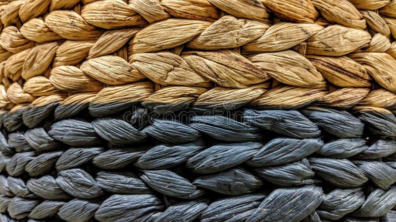 De rieten textuur van het mandweefsel royalty-vrije stock foto's