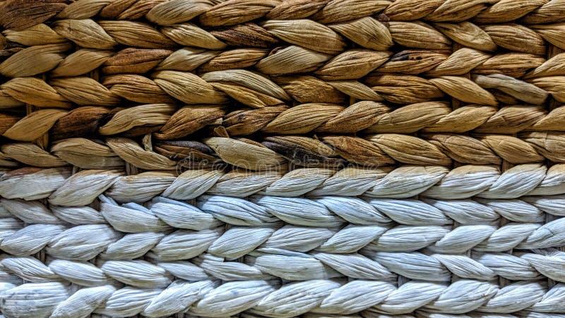 De rieten textuur van het mandweefsel royalty-vrije stock afbeelding