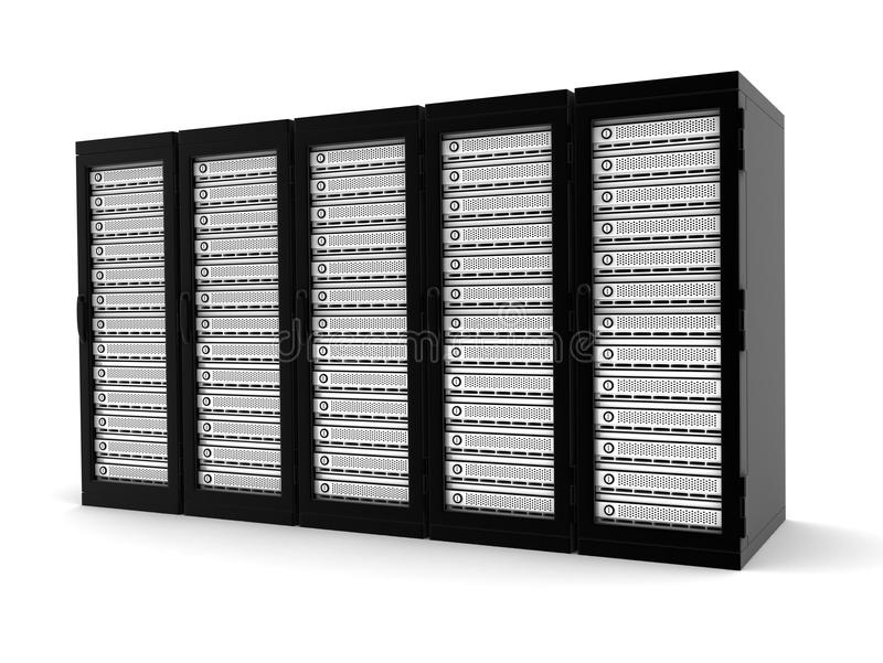 De rij van de server stock foto's