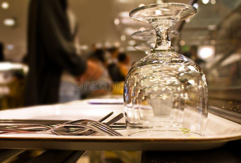 De Rij van het restaurant royalty-vrije stock afbeeldingen