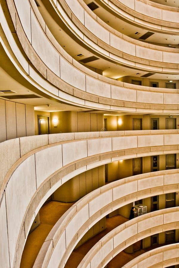 De rijen van het balkon in een hotel royalty-vrije stock fotografie