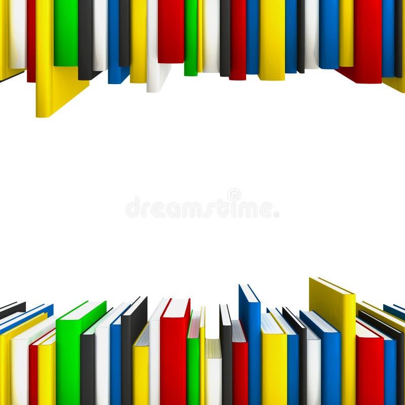 De rijen van het boek als frame stock illustratie