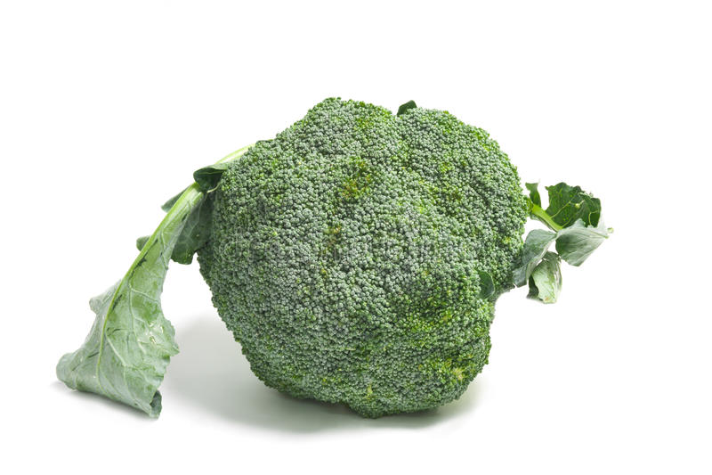 De rijpe Kool van Broccoli op Wit royalty-vrije stock fotografie