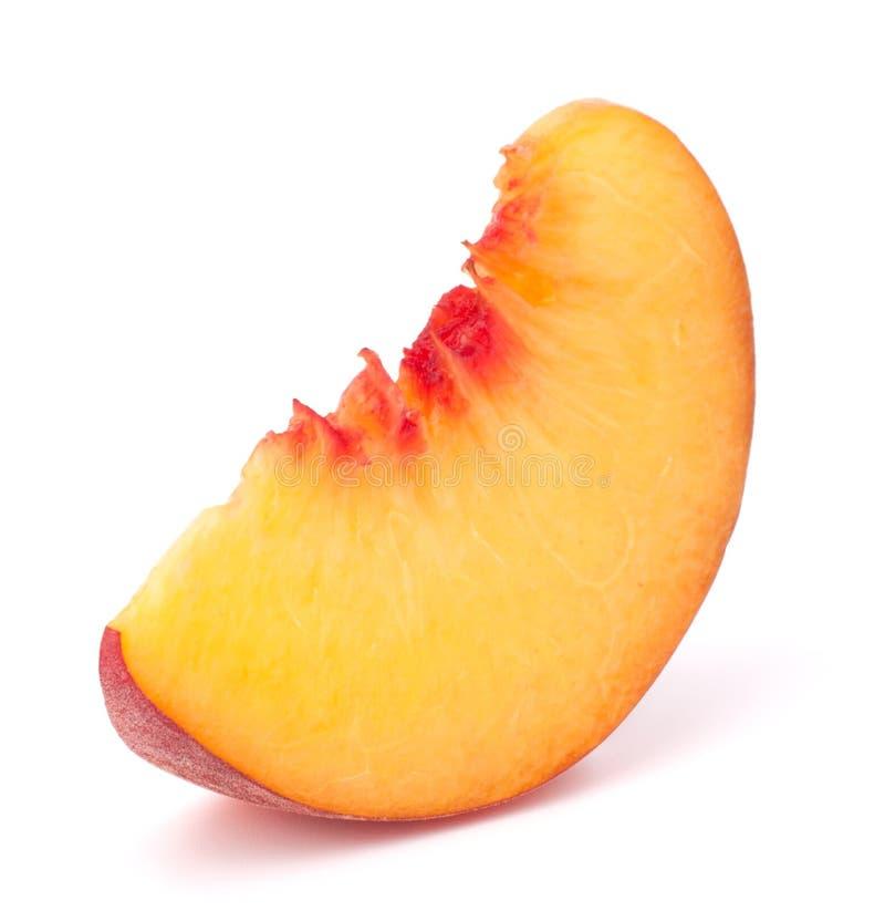 De rijpe plak van het perzikfruit royalty-vrije stock foto