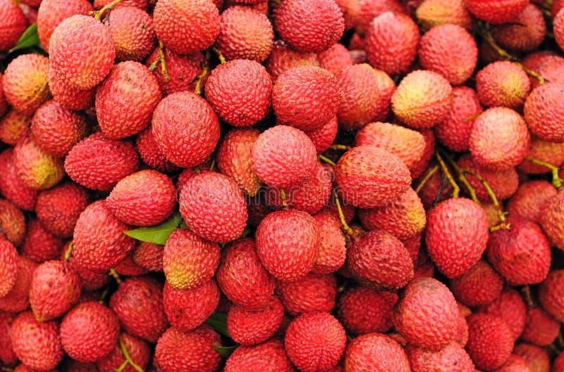 De rijpe vruchten van het Litchi stock afbeeldingen
