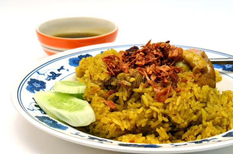 De rijst Beroemd Aziatisch Thais voedsel van de kippenkerrie royalty-vrije stock fotografie