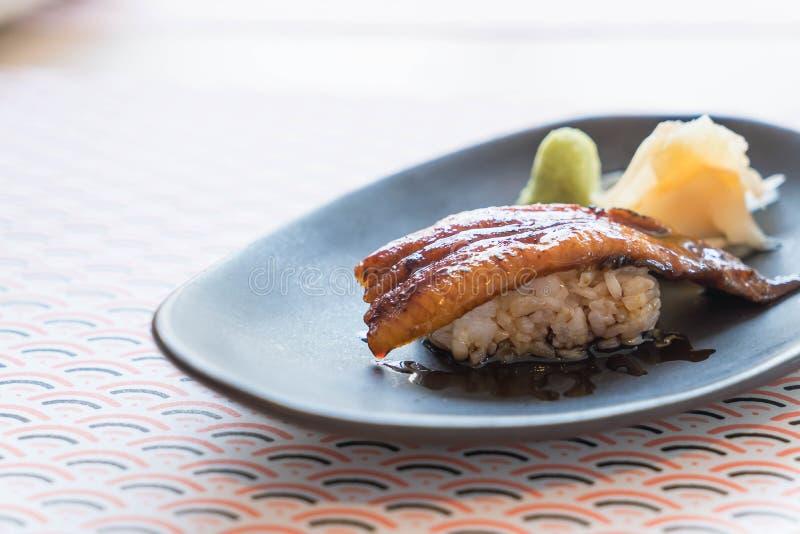 De rijst van palingssushi stock fotografie