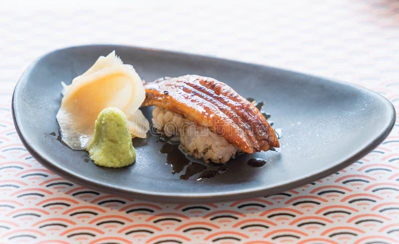 De rijst van palingssushi stock afbeelding