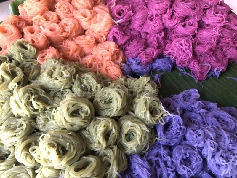 De rijstnoedel is colorfull stock foto's