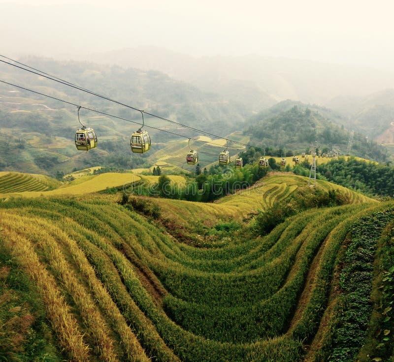 De rijstterrassen van Longji, China royalty-vrije stock afbeeldingen