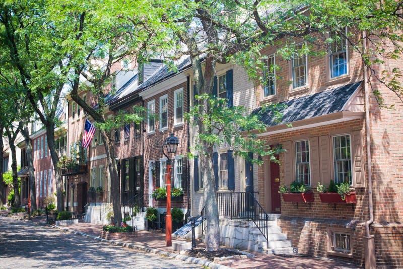 De Rijtjeshuizen van Philadelphia stock foto's