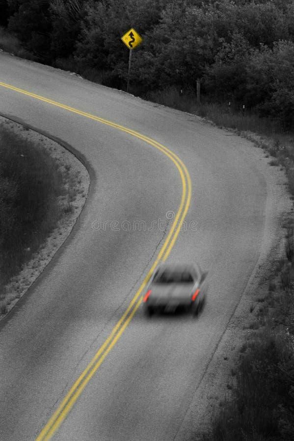 De Rijweg van het land stock foto
