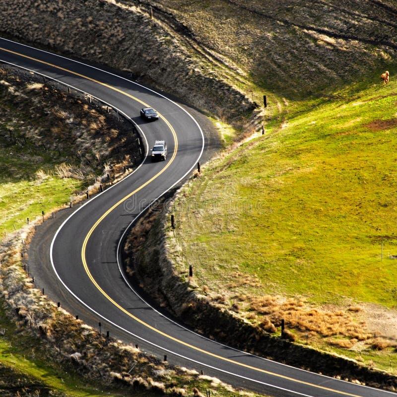 De Rijweg van het land stock afbeelding
