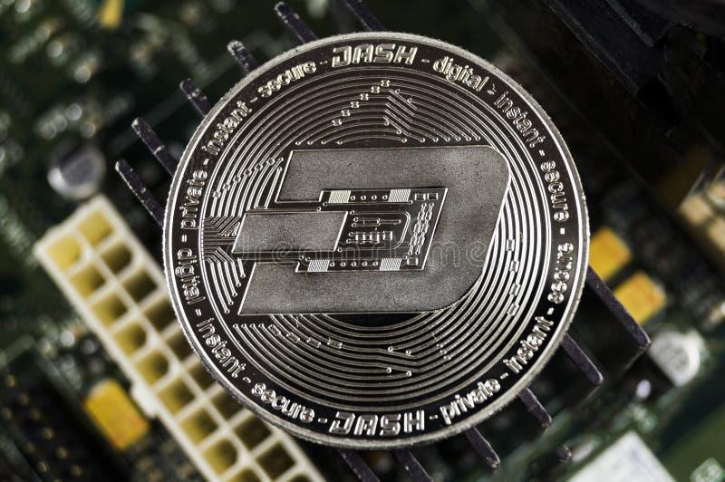 De rimpeling is een moderne manier van uitwisseling en deze crypto munt stock afbeeldingen