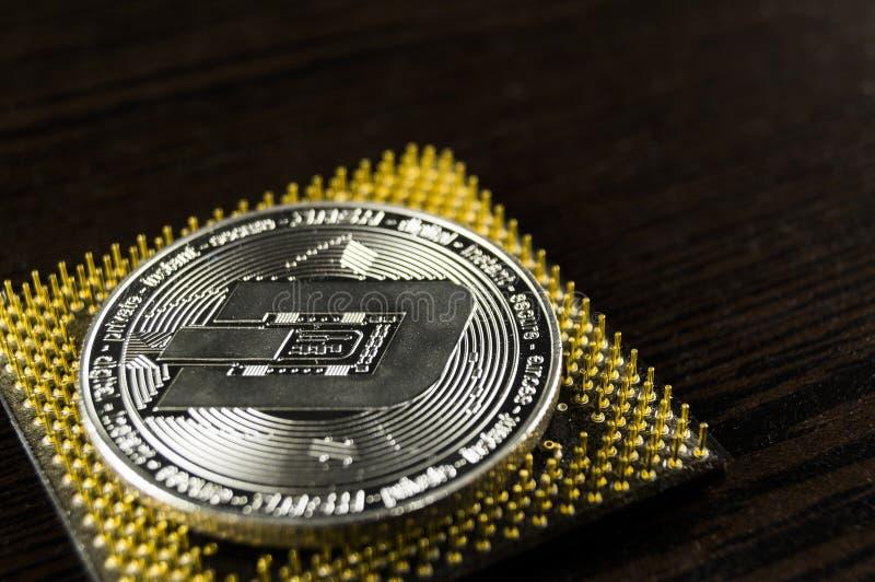 De rimpeling is een moderne manier van uitwisseling en deze crypto munt royalty-vrije stock afbeelding