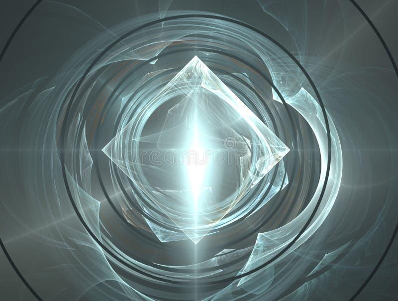De rimpelingen van de diamant en van het water vector illustratie