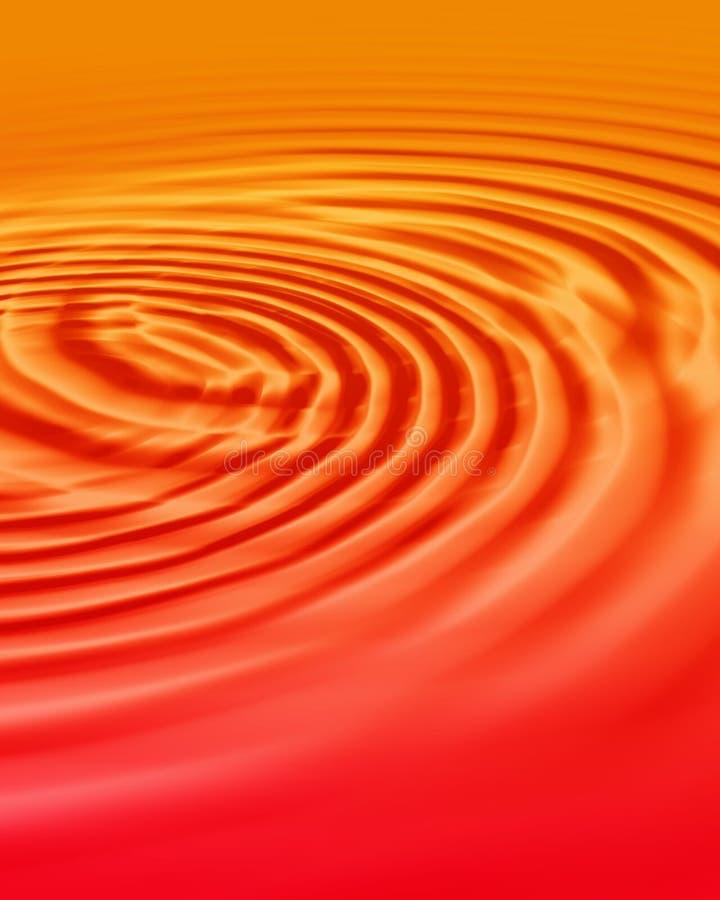 De rimpelingen van de zonsondergang vector illustratie