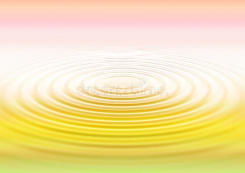 De rimpelingen van het water - gradatie stock illustratie