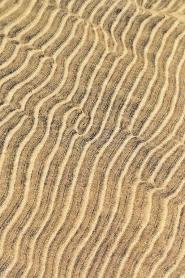 De rimpelingen van het zand in ondiep water royalty-vrije stock foto
