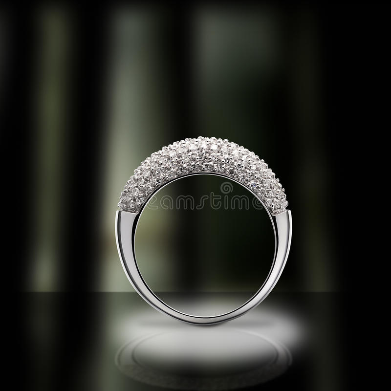 De ring van de diamant royalty-vrije stock foto