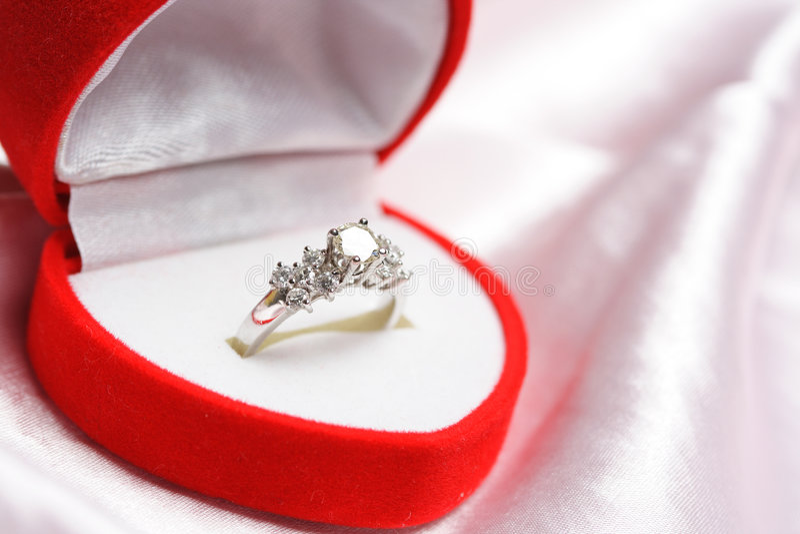 De ring van de diamant royalty-vrije stock fotografie