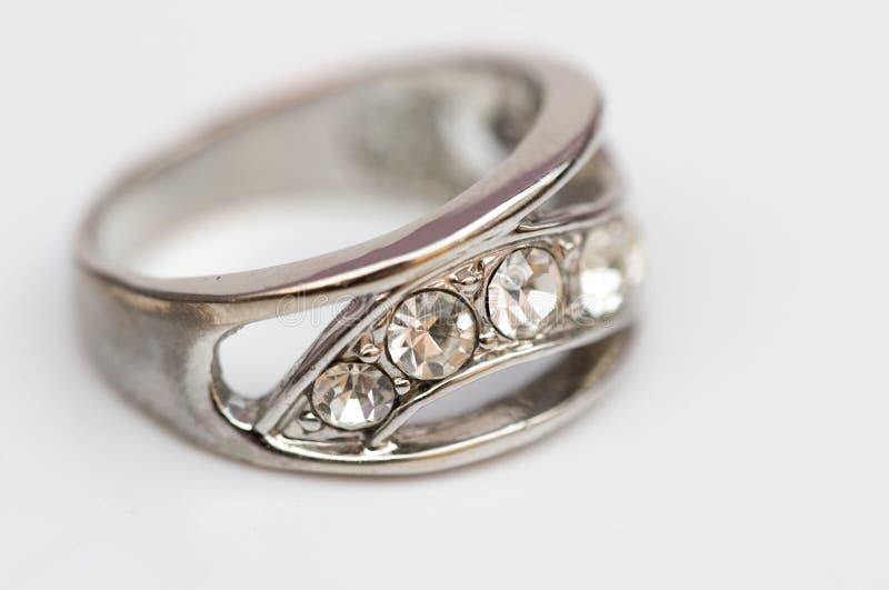 De ring van de diamant, juweel royalty-vrije stock fotografie