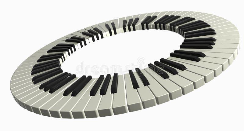 De ring van de piano vector illustratie