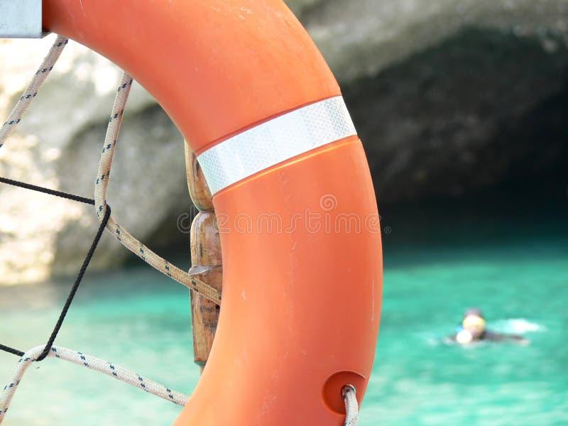 De ring van de reddingsboei stock foto