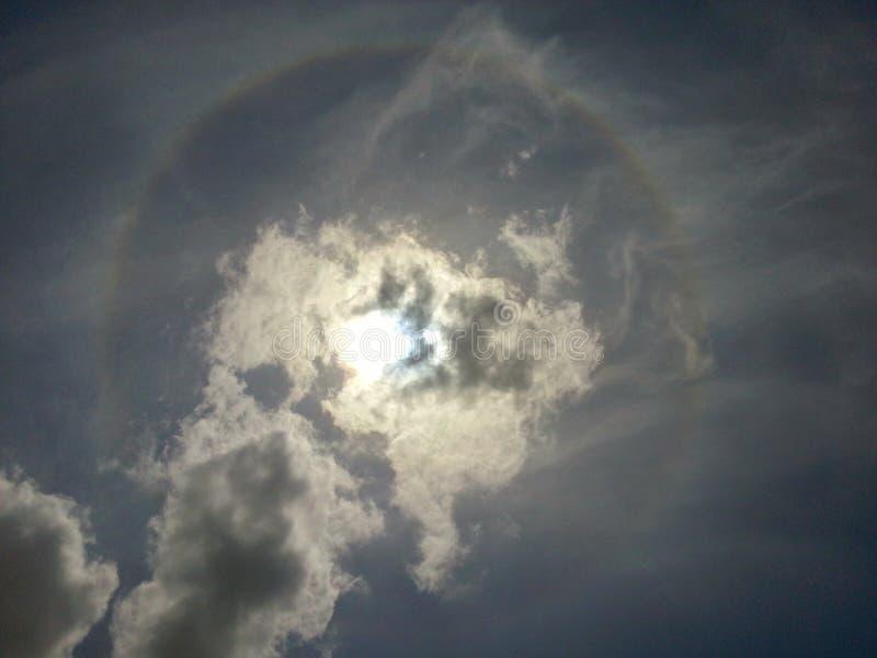 De ring van de zon stock foto