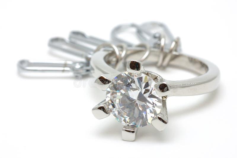 De ring van het kristal keychain royalty-vrije stock afbeeldingen