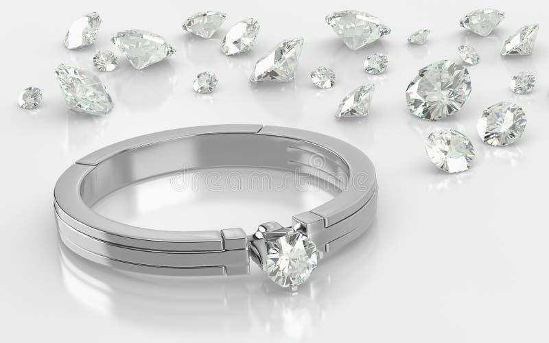 De Ringen van de diamant stock illustratie