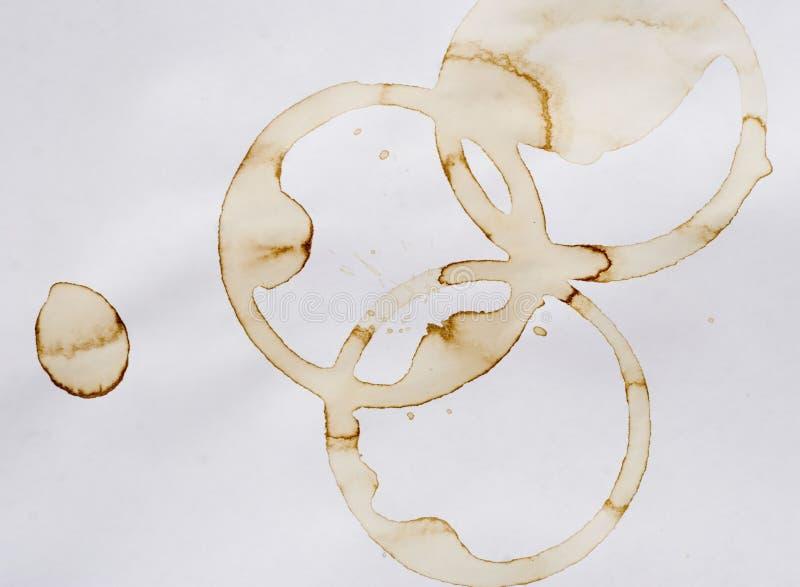 De ringen van de koffie stock fotografie