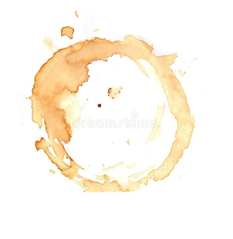 De ringen van de koffiekop op een witte achtergrond stock foto