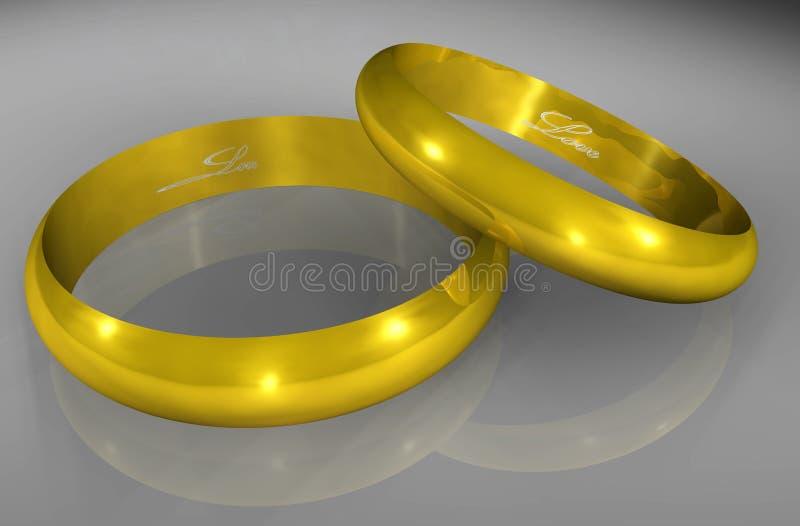 De Ringen van de liefde stock illustratie