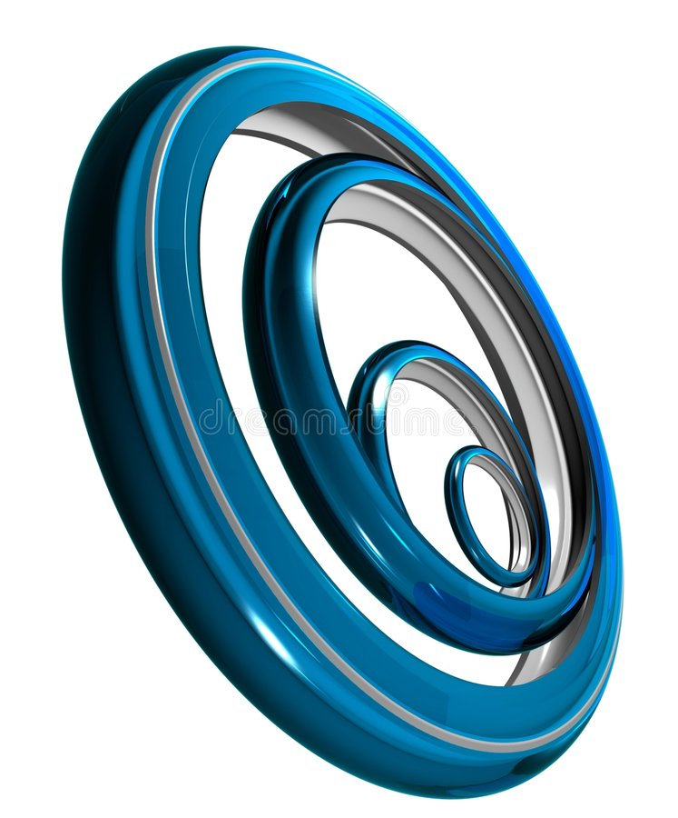 De ringen van het Chroom vector illustratie