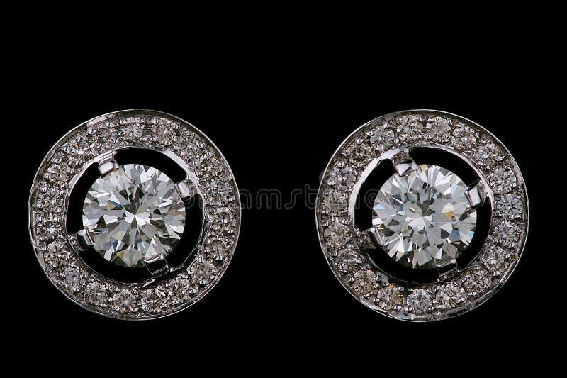 De ringen van het oor met diamanten royalty-vrije stock afbeelding