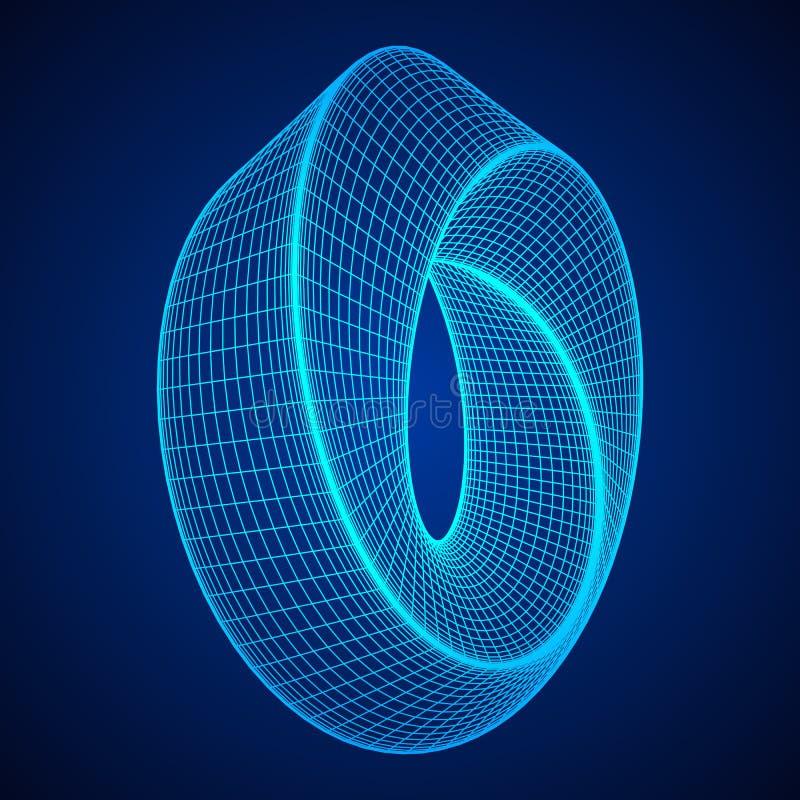 De rings heilige meetkunde van de Mobiusstrook royalty-vrije illustratie