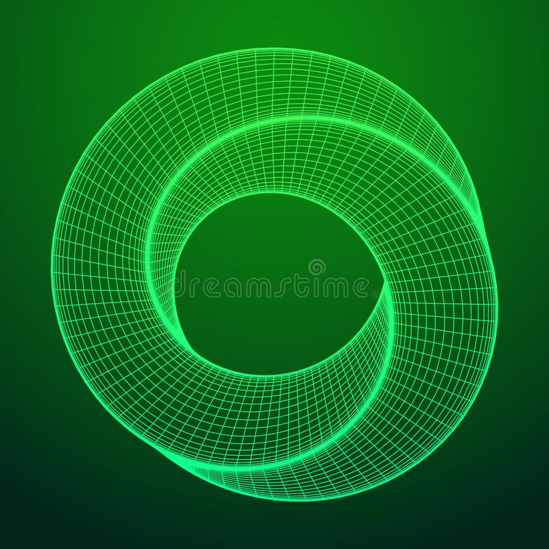 De rings heilige meetkunde van de Mobiusstrook stock illustratie