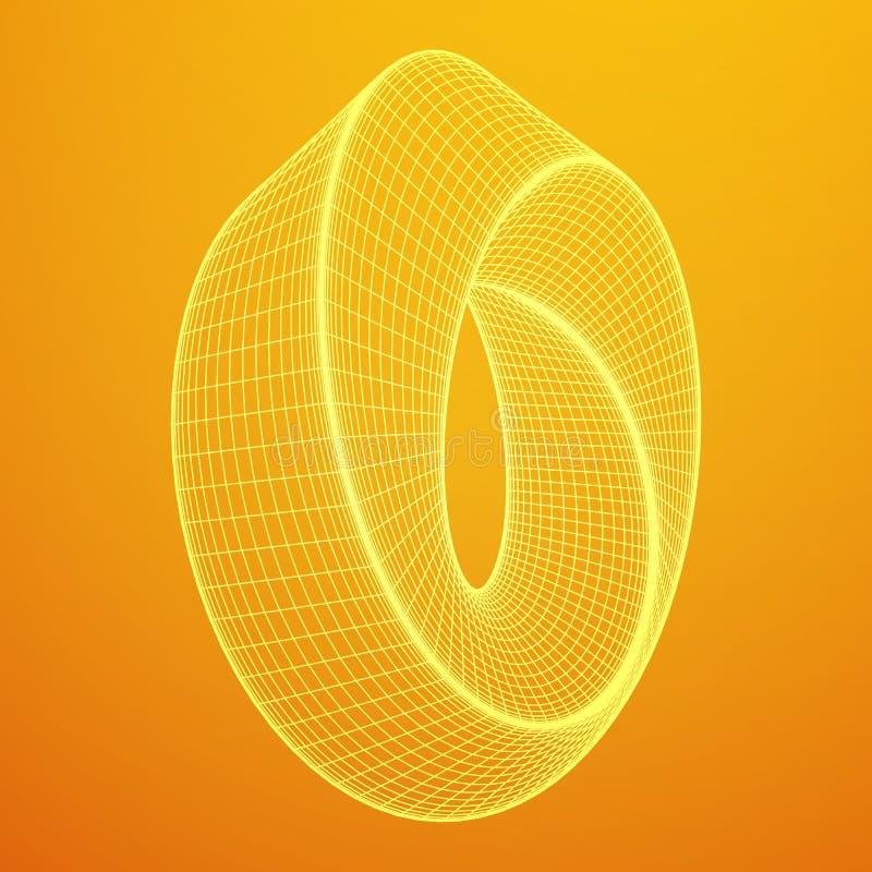 De rings heilige meetkunde van de Mobiusstrook vector illustratie