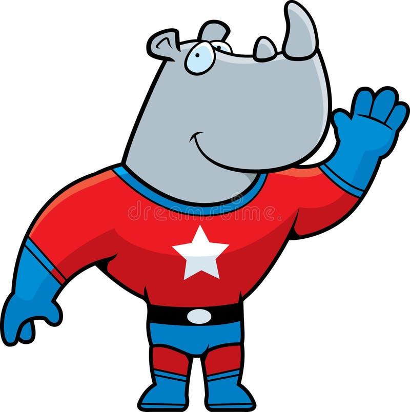 De Rinoceros van Superhero stock illustratie