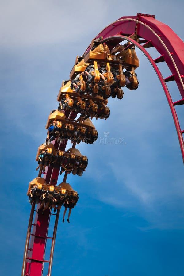 De rit van de achtbaan royalty-vrije stock foto's