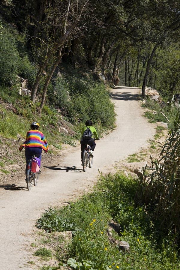 De rit van de fiets stock afbeelding
