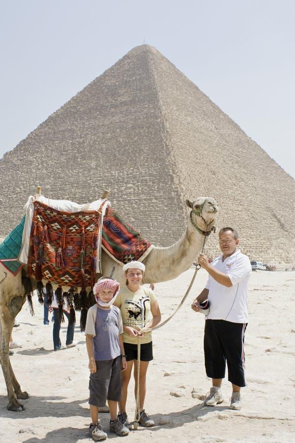 De rit van de kameel royalty-vrije stock afbeelding