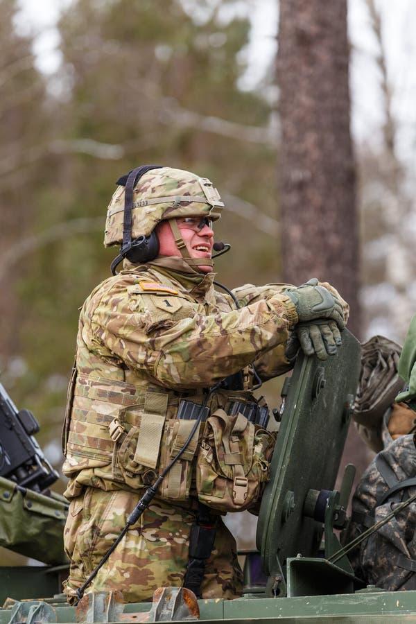 De Rit van het legerdragoon van de V.S. royalty-vrije stock foto's