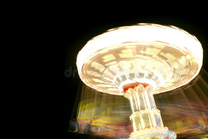 De Rit van het Pretpark bij Nacht stock fotografie