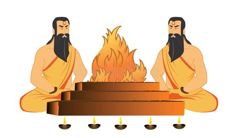 De rituelen van heiligen royalty-vrije illustratie